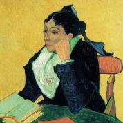 L'Arlésienne : Madame Ginoux met boeken | Van Gogh | Olieverf op linnen, 91,4 x 73,7 cm